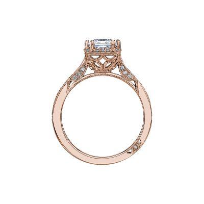 Tacori 2620PRMDP-PK Rose Gold Princess Cut Engagement Ring side