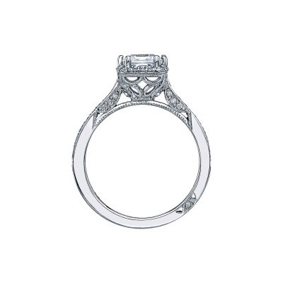 Tacori 2620PRMDP Platinum Princess Cut Engagement Ring side