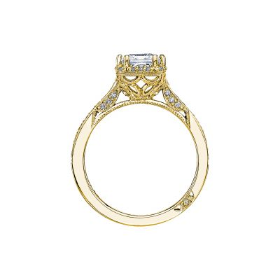 Tacori 2620PRMDP-Y Yellow Gold Princess Cut Engagement Ring side