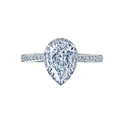 Tacori 2620PS Dantela White Gold Pear Shaped Engagement Ring