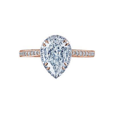 Tacori 2620PS8X5P-PK Dantela Rose Gold Pear Shaped Engagement Ring