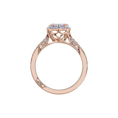 Tacori 2620PS8X5P-PK Rose Gold Pear Shaped Engagement Ring side