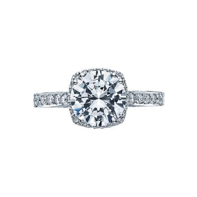Tacori 2620RD Dantela White Gold Round Engagement Ring