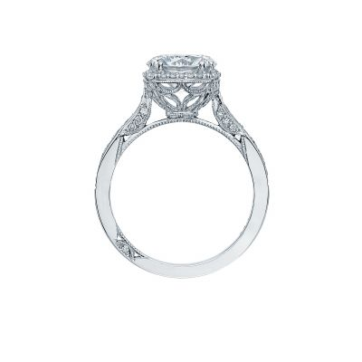 Tacori 2620RD White Gold Round Engagement Ring side