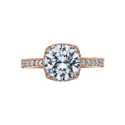 Tacori 2620RDLGP-PK Dantela Rose Gold Round Engagement Ring