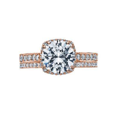 Tacori 2620RDLGP-PK Rose Gold Round Classic Halo Engagement Ring set
