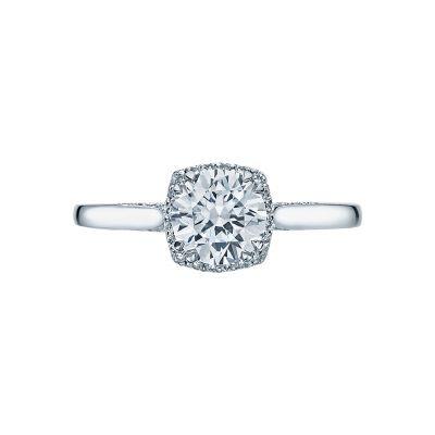 Tacori 2620RDSM Dantela Platinum Round Engagement Ring