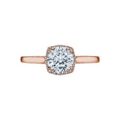 Tacori 2620RDSM-PK Dantela Rose Gold Round Engagement Ring