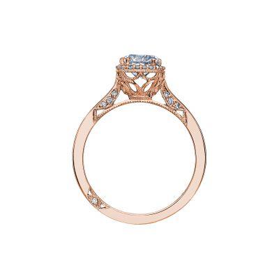 Tacori 2620RDSM-PK Rose Gold Round Engagement Ring side