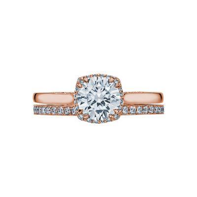 Tacori 2620RDSM-PK Rose Gold Round Solitaire Engagement Ring set
