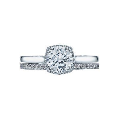 Tacori 2620RDSM Platinum Round Classic Engagement Ring set