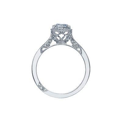Tacori 2620RDSM Platinum Round Engagement Ring side