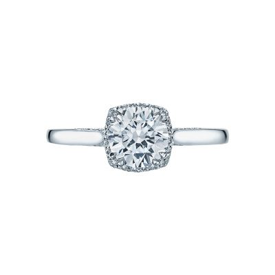 Tacori 2620RDSM-W Dantela White Gold Round Engagement Ring