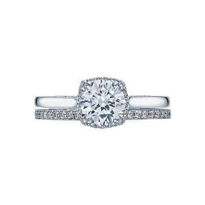 Tacori 2620RDSM-W White Gold Round Solitaire Engagement Ring set