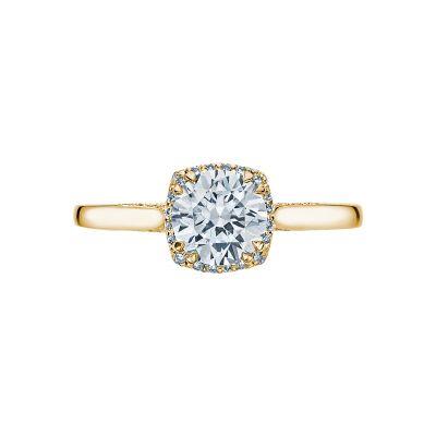 Tacori 2620RDSM-Y Dantela Yellow Gold Round Engagement Ring