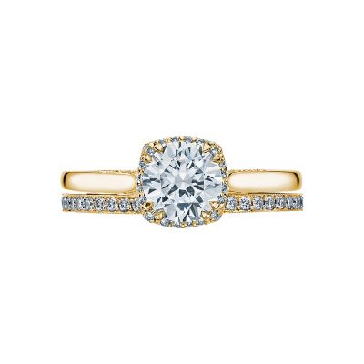 Tacori 2620RDSM-Y Yellow Gold Round Solitaire Engagement Ring set