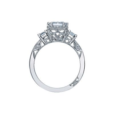Tacori 2621EC White Gold Emerald Cut Engagement Ring side