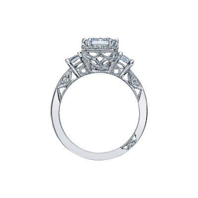 Tacori 2621ECLG Platinum Emerald Cut Engagement Ring side