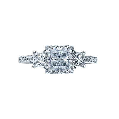Tacori 2622PRMDP Dantela Platinum Princess Cut Engagement Ring