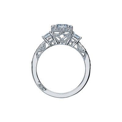 Tacori 2622PRMDP Platinum Princess Cut Engagement Ring side