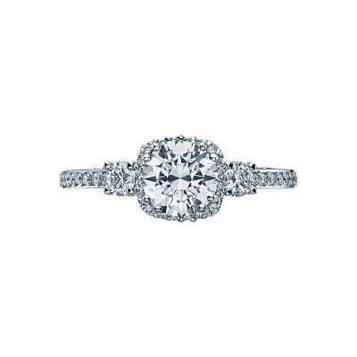 Tacori 2623RD Dantela White Gold Round Engagement Ring