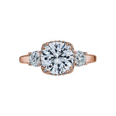 Tacori 2623RDLG-PK Dantela Rose Gold Round Engagement Ring