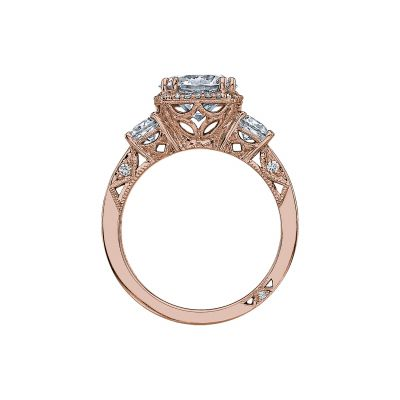 Tacori 2623RDLG-PK Rose Gold Round Engagement Ring side