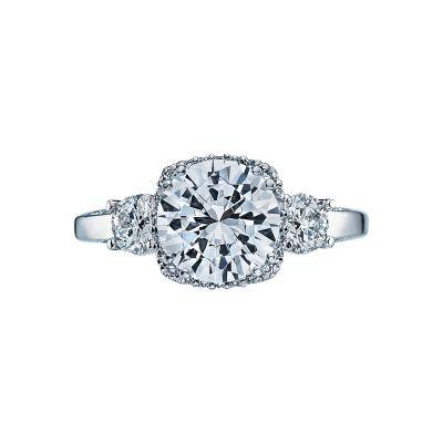 Tacori 2623RDLG-W Dantela White Gold Round Engagement Ring