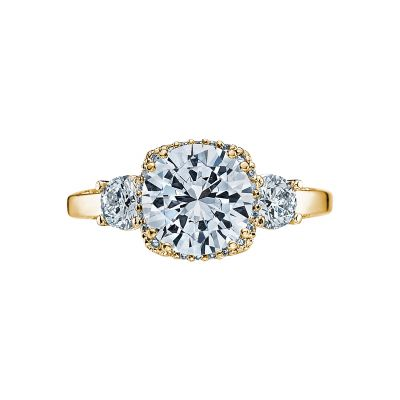 Tacori 2623RDLG-Y Dantela Yellow Gold Round Engagement Ring