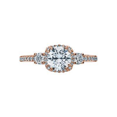 Tacori 2623RDSMP-PK Dantela Rose Gold Round Engagement Ring