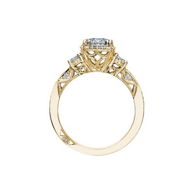 Tacori 2623RDSMP-Y Yellow Gold Round Engagement Ring side