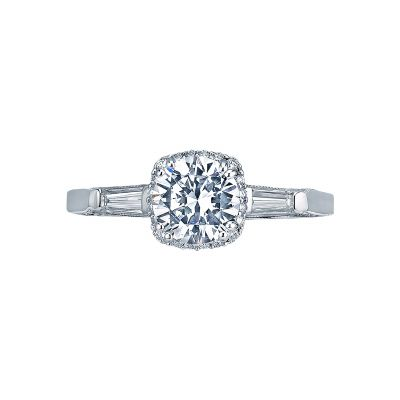 Tacori 2626RD Dantela White Gold Round Engagement Ring
