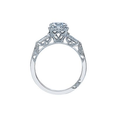 Tacori 2626RD White Gold Round Engagement Ring side