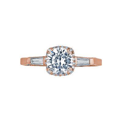 Tacori 2626RD6-PK Dantela Rose Gold Round Engagement Ring