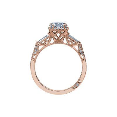 Tacori 2626RD6-PK Rose Gold Round Engagement Ring side