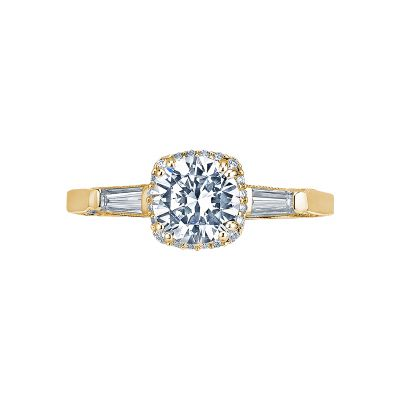 Tacori 2626RD6-Y Dantela Yellow Gold Round Engagement Ring