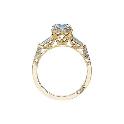 Tacori 2626RD6-Y Yellow Gold Round Engagement Ring side