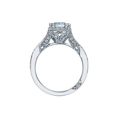 Tacori 2627EC White Gold Emerald Cut Engagement Ring side