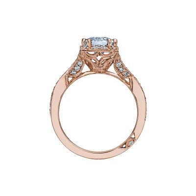 Tacori 2627ECLG-PK Rose Gold Emerald Cut Engagement Ring side