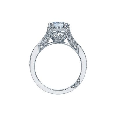 Tacori 2627ECLG Platinum Emerald Cut Engagement Ring side