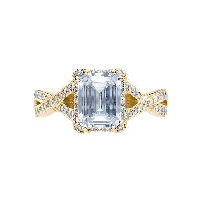 Tacori 2627ECLG-Y Dantela Yellow Gold Emerald Cut Engagement Ring
