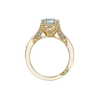 Tacori 2627ECLG-Y Yellow Gold Emerald Cut Engagement Ring side