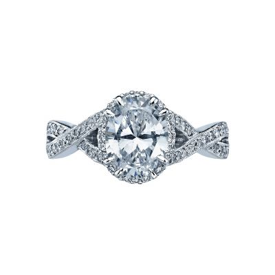 Tacori 2627OV Dantela White Gold Oval Engagement Ring