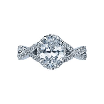 Tacori 2627OVLG Dantela Platinum Oval Engagement Ring
