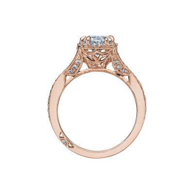 Tacori 2627OVLG-PK Rose Gold Oval Engagement Ring side
