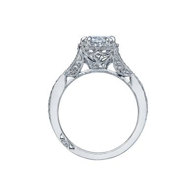 Tacori 2627OVLG Platinum Oval Engagement Ring side