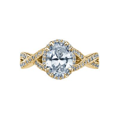 Tacori 2627OVLG-Y Dantela Yellow Gold Oval Engagement Ring
