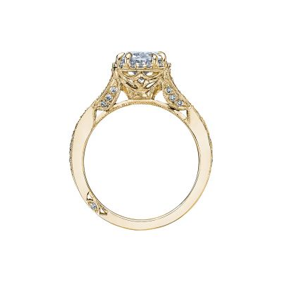 Tacori 2627OVLG-Y Yellow Gold Oval Engagement Ring side