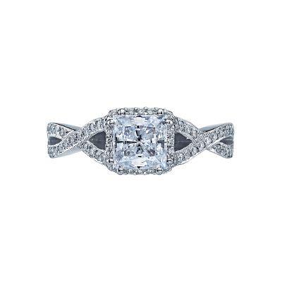 Tacori 2627PR Dantela White Gold Princess Cut Engagement Ring