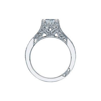 Tacori 2627PR White Gold Princess Cut Engagement Ring side